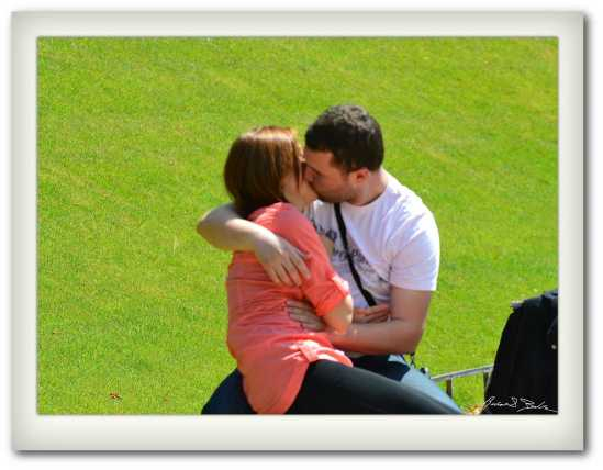A Park Kiss in the Luxembourg Park