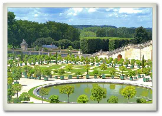 A view form the Palace at Versailles