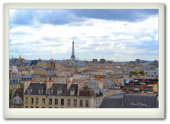 Paris from the Pompidou Centre
