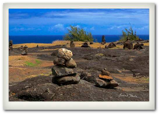 Rock Stacking on Maui