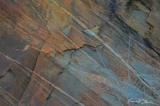 Rock Striations.