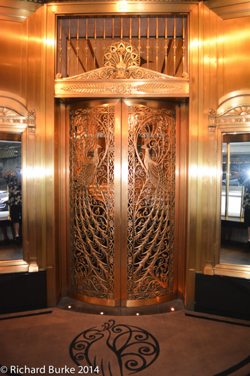 Peacock Doors to Lobby